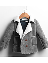 Boy Casual/Daily Solid Trench Coat,Cotton Winter Long Sleeve