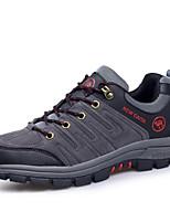 גברים-נעלי אתלטיקה-סוויד-נוחות-ירוק / אפור / חאקי-שטח / ספורט-עקב שטוח