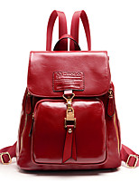 Women Polyester Formal / Casual Backpack Red / Black