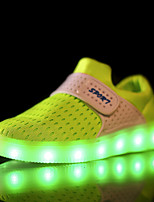 LED Light Up Shoes,Girl and Boy's Spring / Summer / Fall / Winter Comfort Tulle six-color Heel Slip-on Loafers