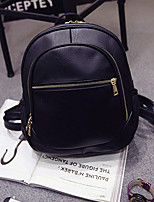 Women PU Casual Backpack Brown / Black