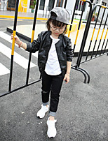 Girl's Casual/Daily Solid Suit & BlazerCotton Spring / Fall Black