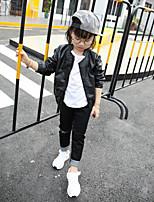Completo e giacca Girl Casual Tinta unita Cotone Primavera / Autunno Nero