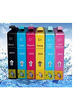 Suitable For Epson Artisan 835/837/730 Printer Cartridges Bk/R/Y/Bl/C/M 18Ml/Color