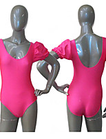 Shiny Nylon/Lycra Cap Puffy Sleeve Leotard Ballet Dancewear More Colorsfor Girls and Ladies