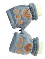 gants chauds (gants gris ours griffe)