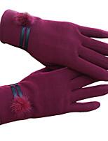 gants à écran tactile des femmes (violet)