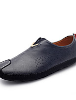 Men's Loafers & Slip-Ons Spring / Fall Comfort PU Casual Flat Heel Slip-on Black / Blue / Orange Sneaker