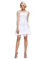 TS Couture® Cocktail Party Dress A-line One Shoulder Short / Mini Lace / Tulle with Beading
