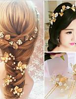 נשים פנינה כיסוי ראש-חתונה אירוע מיוחד סרטי ראש קליפס לשיער 3 חלקים