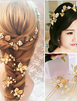Women's Pearl Headpiece-Wedding Special Occasion Headbands Hair Clip 3 Pieces
