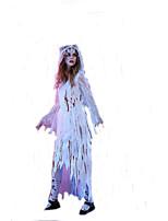 Cosplay Kostüme Zauberer/Hexe / Vampire Film Cosplay Weiß einfarbig Kleid / Kopfbedeckung Halloween / Karneval Frau Polyester