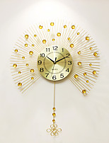 Modern/Contemporary Houses Wall ClockOthers Acrylic / Glass / Metal 60*80cm Indoor Clock