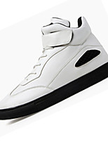 Men's Sneakers Spring Fall Comfort PU Casual Flat Heel Lace-up Black White Gold Others