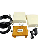 CDMA 850MHz PCS 1900MHz Cell Phone Signal Repeater Dual Band Signal Booster with Panel Antenna / Mini / Golden