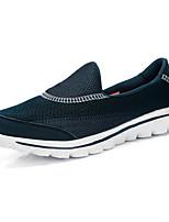 Feminino-Mocassins e Slip-Ons-Conforto / Sapatos de Berço-Rasteiro-Preto / Azul / Vermelho-Tule-Casual