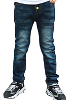 Boy's Casual/Daily Solid PantsCotton Winter Blue