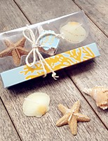 Beter Gifts Beach Starfish and Seashells 3pcs/box Candles Set Party Keepsakes Wedding Door Gifts