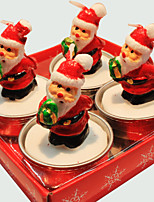Christmas Candle  Cute Santa Claus 4 Pcs