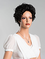 Elegant Curly Short Capless Wigs Top Quality Human Hair