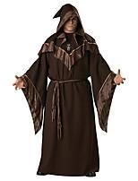 Cosplay Costumes Wizard/Witch Halloween Brown Print Cotton Dress / Belt / Hat