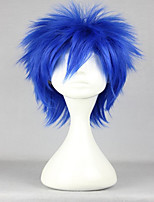 Anime chaud fairy tail costume perruque bleu vif court cosplay perruque droite du forgeron
