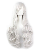 Hot Selling White Color Synthetic Cheap Cosplay Wigs For Women Party Wigs