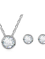 Thousands of colors   Jewelry Necklaces / Earrings Jewelry set Crystal Fashion Daily 1set Women- 9-1-1-680-2-556
