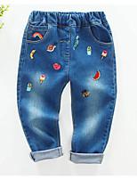 Pantalons Fille de Imprimé Décontracté / Quotidien Coton Printemps / Automne Bleu