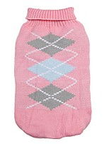 Classic Diamonds Pattern Winter Sweater Puppy Clothing for Pets Dogs (Assorted Sizes and Colours)