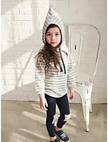Girl's Casual/Daily Striped Hoodie & Sweatshirt / LeggingsCotton Spring / Fall Gray