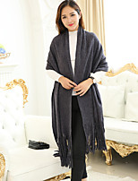 Women Polyester Scarf,Casual RectanglePrint