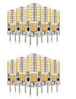 3W G4 Luces LED de Doble Pin T 48 SMD 3014 140-160 lm Blanco Cálido / Blanco Fresco / Blanco Natural Decorativa / Impermeable V 10 piezas