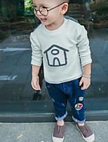 Tee-shirts Boy Couleur Pleine Décontracté / Quotidien Coton Printemps / Automne Bleu / Rose / Blanc