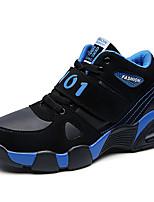 Синий Черный и красный Черный и белый-Мужской-Повседневный-Замша-На плоской подошве-Удобная обувь-Кеды