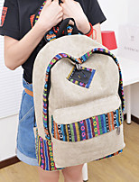 Women Canvas Backpack Blue / Brown / Gray