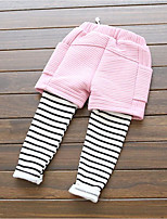 Girl's Casual/Daily Striped PantsCotton Winter / Fall Pink