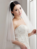 Wedding Veil One-tier Elbow Veils Cut Edge Tulle