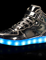 LED Light Up Shoes,Men's Sneakers Spring Fall Comfort Leatherette Casual Flat Heel Lace-up Black Red White Silver Gold Walking