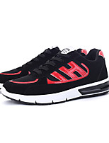 Men's Flats Spring / Fall Comfort PU Casual Flat Heel Others / Lace-up Blue / Black and Red / Black and White Others