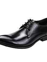 Men's Oxfords Comfort Genuine Leather Wedding/Office&Career/Party&Evening/Casual Flat Heel