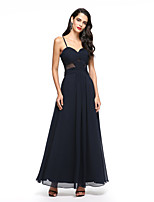 2017 TS Couture® Formal Evening A-line Spaghetti Straps Ankle-length Chiffon With Criss Cross