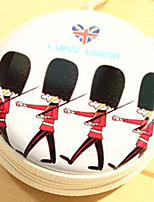 Travel Metal Cartoon British Soldiers Change Headphones Storage Box(Random Color)