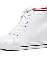 Women's Boots Fall Winter Comfort PU Casual Black White