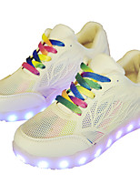 Women's Sneakers Spring / Fall / Winter Comfort Leatherette Outdoor / Athletic / Casual Flat Heel Lace-up White Sneaker
