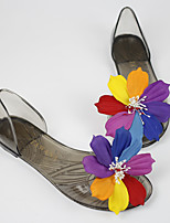 Women's Sandals Summer Comfort Rubber Casual Flat Heel Flower Black / Champagne Others
