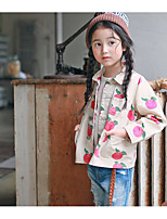 Girl's Casual/Daily Print Suit & BlazerCotton Fall Beige