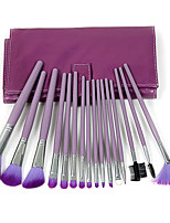 18 Makeup Brushes Set Synthetic Hair Professional / Portable Wood Face / Eye / Lip