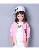Girl's Casual/Daily Solid Suit & BlazerCotton Fall Black / Pink