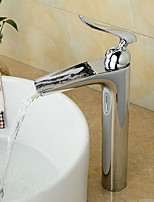 Contemporary / Art Deco/Retro / Modern Centerset Waterfall / Pre Rinse with  Ceramic Valve Single Handle Two Holes for